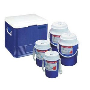 Cooler 5 Piece Set W/ 5.85 Gallon Cooler, Two 0.60 Gallon Jugs, & Two 0.30 Gallon Jugs
