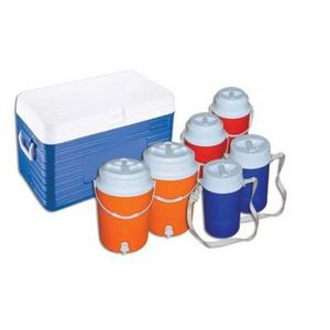 Insulated Cooler Set of 7 Pieces - Cooler & 6 Jugs