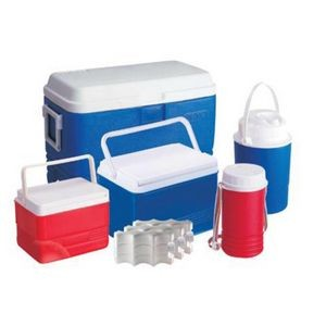 Cooler 5 Piece Set W/ 3 Coolers, 2 Jugs, and3 Ice Packs